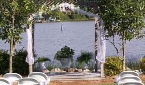 Deep Creek Landing outdoor wedding ceremony